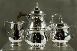 Gorham Sterling Tea Set 1953 QUEEN ANNE