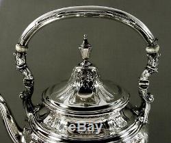Gorham Sterling Tea Set Kettle & Stand 1923 Maintenon 71 Oz