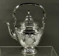 Gorham Sterling Tea Set Kettle & Stand 1928 MAINTENON