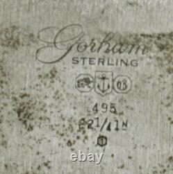 Gorham Sterling Tea Set Tray 1961 PLYMOUTH