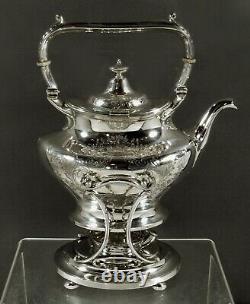 Gorham Sterling Tea Set c1920 HAND DECORATED