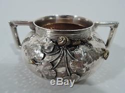 Gorham Tea Set 2105 Antique Service American Sterling Silver & Mixed Metal