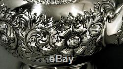 Gotham Sterling Silver Tea Set 1892 HAND DECORATED