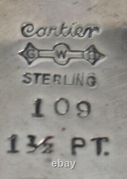 Graff Washbourne & Dunn Sterling Silver 4 Piece Complete Coffee/Tea Set Cartier