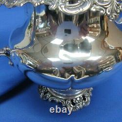 Grand Baroque by Wallace Sterling Silver 4 Piece Coffee Tea Set No Monograms