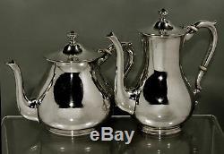 Gyllenberg Sterling Tea Set c1930 ARTS & CRAFTS HAND WROUGHT