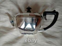 Hallmarked Birmingham solid silver 3 piece tea set 701 grams