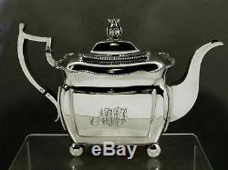 Harvey Lewis Silver Tea Set c1815 Federal Winterthur Museum