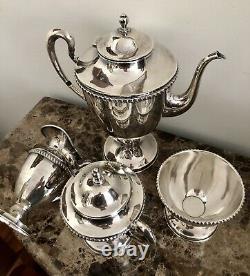 Hecho EN Mexico Sterling Silver 6 Pc. Coffee & Tea Set Tray 26.5