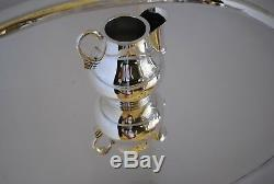 Hector Aguilar 6 Piece Sterling Silver Tea/Coffee Set 1950's Taxco WithTray