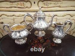 Hunt Roskell Late Storr & Mortimer Paul Victorian Sterling Teaset Teapot Sugar