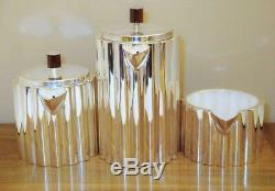 ILONKA KARASZ Art Deco Tea & Coffee Set STERLING Silver & Wood MMA