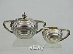 Imperial Antique Russian 84 Silver Tea Set St. Petersburg 1875 Unusual Design