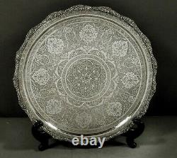 Indian Silver Tea Set Tray c1890 SIGNED