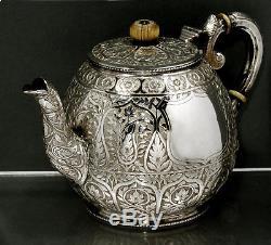 Indian Sterling Silver Tea Set c1875 COOKE & KELVEY, CALCUTTA
