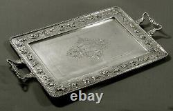 Indian Sterling Tea Set Tray c1910 SIGNED HAND CRAFTED