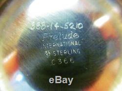 International Prelude Sterling Silver Tea Set, Teapot Coffee Creamer Sugar Waste