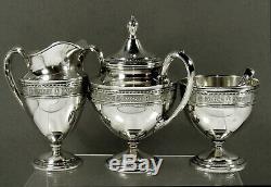 International Sterling Tea Set (5) c1940 Wedgwood