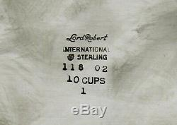 International Sterling Tea Set c1950 Lord Robert No Monogram