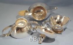 Italian Sterling Silver National Silver Tea Pot Set Arabic Snake Flute Player