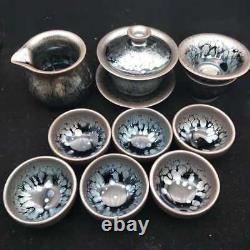 JZ0057 12 pcs set of Chinese JianZhan Tea cups of Popular TENMOKU tea bowls