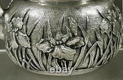 Japanese Sterling Iris Tea Set K. Uyeda