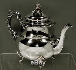 Japanese Sterling Silver Tea Set c1940 SIGNED
