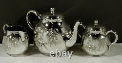 Japanese Sterling Tea Set HAND HAMMERED SIGNED