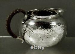 Japanese Sterling Tea Set c1890 MEIJI SIGNED