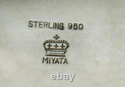 Japanese Sterling Tea Set c1930 MIYATA