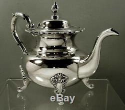 Japanese Sterling Tea Set c1960 Miyata Grand Baroque