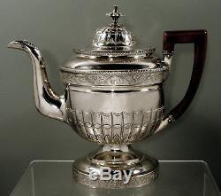 John McMullin Silver Tea Set c1810 Examples in Winterthur Museum