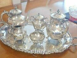 Juvento Lopez Reyes Classic 6 piece Sterling Silver 925 Coffee & Tea Set
