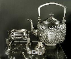Kennard & Jenks Sterling Tea Set c1875 Boston 65 Ounces