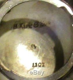 Kirk Silver Tea Set c1880 RAM HEAD HANDLES 74 OUNCES