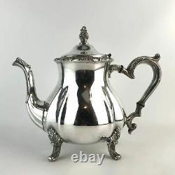 Leonard Silver Co Silverplate 3 Piece Coffee Tea Pot Sugar Creamer Set Service