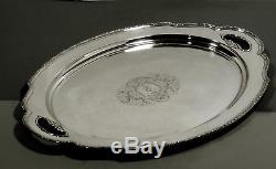 Lunt Sterling Tea Set Tray c1930 TREASURE HAND DECORATED 113 OZ