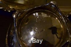 MEXICO 925 STERLING SILVER SERVING SET With TRAY COFFEE & TEA POT SUGAR & CREAMER
