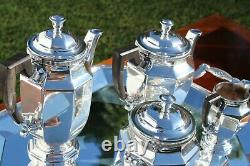 Magnificent Christofle Coffee and Tea Set Service Set in Five Pieces Unused