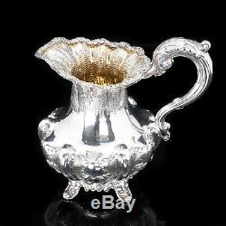 Magnificent Georgian Solid Silver Three-piece Tea Set Benjamin Smith