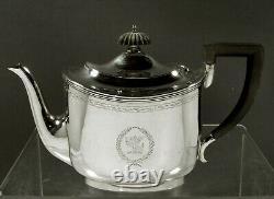 McAuliffe & Hadley Sterling Tea Set c1920 HAND WROUGHT