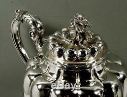 Mexican Sterling Tea Set c1950 Casa Prieto 79 Oz