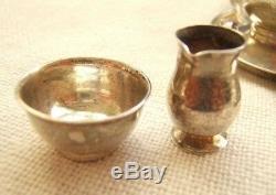 Miniature Sterling Silver Tea Set 5pc England Birmingham Dollhouse