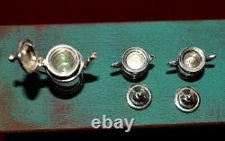 Miniature Sterling Silver Tea Set Dollhouse 112 Artist O'Meara