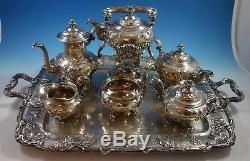 Modernic by Gorham Sterling Silver Tea Set 6pc & Tray #1818B (#1918) Grapes