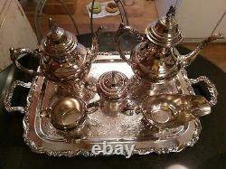 NOS Oneida Silver Tea & Coffee Service Set