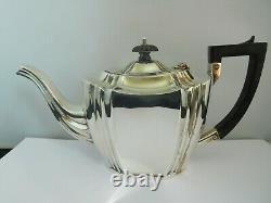 Nice Quality Victorian English Sterling Silver Tea Set John Millward Banks
