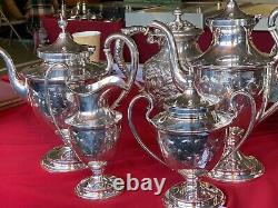 Old Maryland Engraved Sterling Silver 4 Piece Tea Set No Monos #4196 O