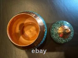 Persian Tea set Turquoise Stone & Copper Made by Master Mr Aghajani, NEW