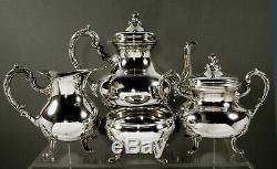 Peru Sterling Tea Set c1950 Camusso 65 Ounces